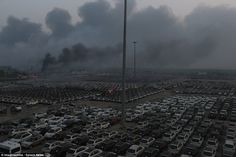 The port city is a major vehicle hub where about 10,000 imported cars were destroyed - including 2,748 Volkswagens and  1,000 Renaults