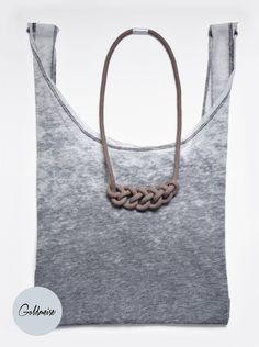 Knotenkette 'Mini-Ronda', handgefärbtes Seil von Goldmeise auf DaWanda.com Etsy, Mini, Pattern, Accessories, Knots, Knot Necklace, Neck Chain, Handarbeit, Model