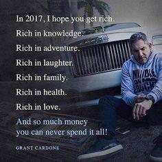 """In 2017"" by @grantcardone ... #welcome2017 #happynewyear2017 #bestwishesforyou #2017goals #newyearresolution2017 #getrich #newyearresolutions #social_mike"