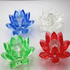 2016New design Free Shipping K9 crystal material 100mm*100mm  crystal lotus any color for you choosing