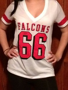 Victoria's Secret Pink Atlanta Falcons Mesh Athletics Top Medium NFL