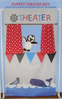 Puppet Theater Pattern  Great for a Boy  DIY Puppet  by Owlanddrum, $11.98