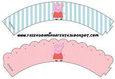 peppa pig printables cupcake wrappers. Wrappers para cupcakes.