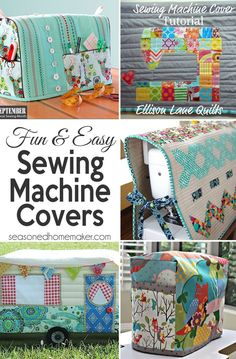 Covering your serger or sewing machine is essential. This collection of tutorials will show you how to make simple sewing machine covers in very little time. Want to know everyone's favorite - it's sewing machine cover #2!