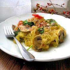 Vegan Feta and Spinach Pasta