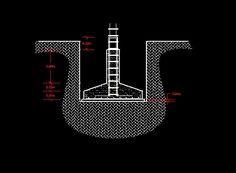 Descarga GRATIS: zapata aislada - planos y bloques en AutoCAD sobre arquitectura y construcción.