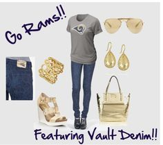 """""""St Louis Rams"""" by trinagreat on Polyvore"""