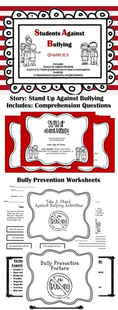 Stop Bullying in the classroom. A variety of activities to promote a safe environment for students. #Bullying #Anti-Bullying #Classroom