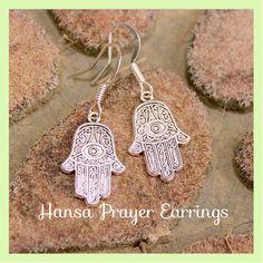 The Hansa Prayer Hand Symbol Unisex  Earrings,  Zen, Meditation, Metaphysical, Namaste, Yoga, Hindu, Buddha , By: Tranquilityy