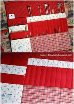 """Домик в одуванчиках: Чехлы для спиц и крючков """"Красные"""" / Knitting Needle Cases"""