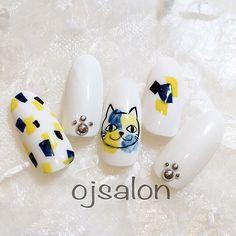かわいいネイルを見つけたよ♪ #nails #naildesign #cat #tokyo #ojsalon #広尾 #恵比寿 #猫ネイル #fashion