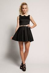 Match Dress - Black $65. Love the cutouts at neckline.