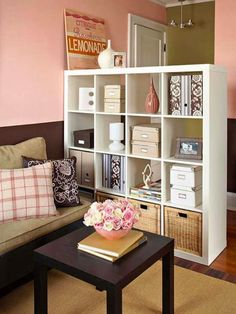 50+ Best Storage Ideas and Projects for Small Spaces in 2021 Living Room Storage, Bedroom Storage, Living Room Interior, Bedroom Decor, Bedroom Ideas, Interior Livingroom, Decor Room, Apartment Furniture, Apartment Living