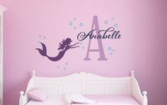 Cute Mermaid Wall Decal Set! This would be adorable for a little girl's room!