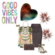 """""""Good Vibes"""" by ksims-1 ❤ liked on Polyvore featuring Paule Ka, Etro, Chanel, Kenneth Jay Lane and Oscar de la Renta"""