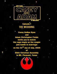 Star wars wedding invitations for a beauteous wedding invitation design with beauteous layout 7