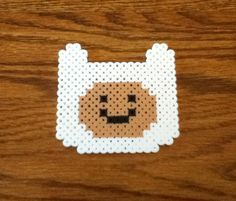 Adventure Time Finn Perler Bead Pixel Art Sprite