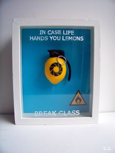 "Portal Lemon-ade Wall Display - ""I'm the guy that's going to burn your house down - with combustible lemons. Combustible Lemons, Aperture Science, O Portal, Nerd Cave, Nerd Crafts, You Monster, Web Design, Geek Out, Geek Culture"