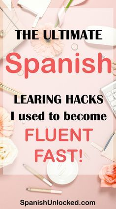 The Ultimate Spanish Learning Hacks I Used to Become Fluent Fast! These 15 fun and easy hacks that work! Learn Conversational Spanish Fast and easy! These tips worked for me, so they will work for you, too! Spanish Phrases, Spanish Grammar, Spanish Vocabulary, Spanish Language Learning, Spanish Teacher, Spanish Classroom, Learn A New Language, Teaching Spanish, Foreign Language