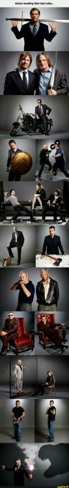 Actors portraying their favorite roles