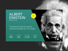 Daily UI 006 :: Profile Card :: Albert Einstein
