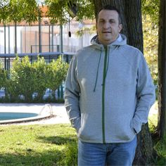 Men's Fleece Jacket Sewing Pattern is a slim fitting jacket with contoured seams on both body and sleeve. Designed for Men's sizes PDF sewing pattern Coat Pattern Sewing, Pdf Sewing Patterns, Mens Fleece Jacket, Hooded Jacket, Plus Size Sewing, Collar Pattern, Kimono Jacket, French Terry, Sporty