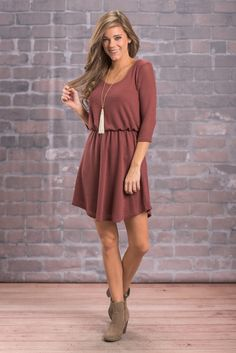 """""""You're So Classic Dress, Brick"""" You're going to look absolutely fantastic in our You're So Classic dress! #newarrivals #shopthemint"""