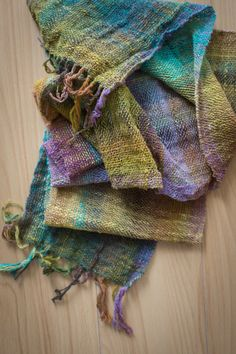Noro Taiyo Lace on a 7.5dpi heddle