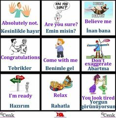 This Pin was discovered by Olg Learn Turkish Language, Learn A New Language, Language Study, Language Lessons, English Time, Learn English, British Sign Language, English Language, Education English