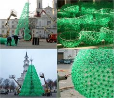 Christmas Tree Made From Recycled Soda Bottles