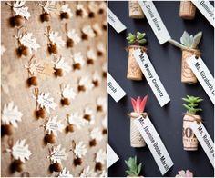 Pretty, Inventive #Wedding_Reception #Escort_Cards. To see more: www.modwedding.com
