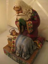 The Real Meaning of Christmas figurine Santa and Jesus Jim Shore Enesco 4010488