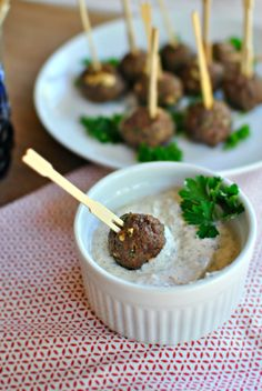 These mini gyro meatballs are easy and delicious. Ground lamb, spices, feta and cilantro bake to perfection, Great for a cocktail party!
