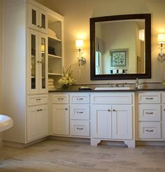Bathroom 045 - Burrows Cabinets - central Texas builder-direct custom cabinets