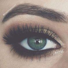 Augen make up für wunderschöne grüne augen