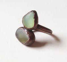 Pinecrest Peak Ring  Electroformed Copper  Sea by StudioJardine, $68.00