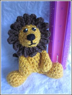 Timmy is the tiniest lion friend around. He is very easy to crochet! This 7 page pdf includes step by step instructions and pictures on how to do is lovely mane. He measures approx. 3 1/2 inches sitting down and 5 inches standing up. He is the first in the tiny series, many more friends are soon to come!