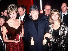 Diana, Princess of Wales with Sir Paul and wife, Linda
