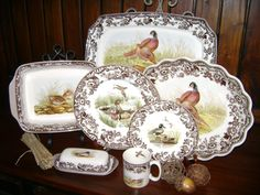"""Spode China """"Woodlands"""" collection.  Found at The Warehouse in Statesboro, GA. Great gift for the host/hostess in the family!"""