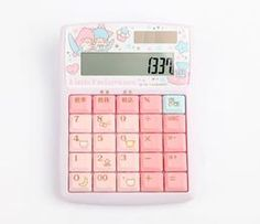 Little Twin Stars Solar Calculator: Bright Sky Solar Calculator, Pink High Tops, Office Works, Work Desk, Little Twin Stars, My Melody, Gift List, Sanrio, Girly Things