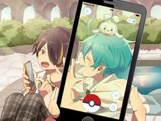 Ensembles stars x Pokemon Go  Shinobu Kanata and seal