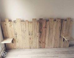 Beds in pallets: loft-style headboard - Marry Ko. - Beds in pallets: loft-style headboard – Marry Ko. Beds in pallets: loft style h - Kids Bed Canopy, Wooden Pallet Projects, Pallet Beds, Loft Style, Diy Bed, Wooden Diy, Handmade Wooden, Home Projects, Diy Furniture