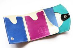 【小さい財布・極小財布】小さいふ。 ペケーニョ 青海波 セイガイハ 【日本の伝統文様シリーズ】