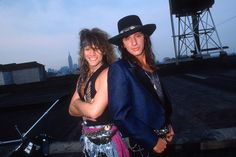 "Bon Jovi #80s #80smusic #80smetal #80srock @anderbj | Tumblr - ""Jon Bon Jovi and Richie Sambora at music video shoot in New York City #NYC  for @jovofan1 """