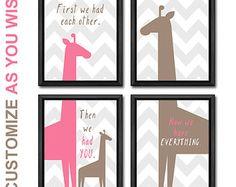 Mädchen Kinderzimmer Dekor Baby print Satz von Marysflowergarden