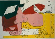 """Le Corbusier """"Ariane et Pasiphaé"""" 1961"""