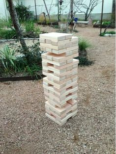 Handmade Giant Toppling Jenga ~ Outdoor Game by Yardtastic on Etsy, $99.00 ~ Perfect for your guests during the cocktail hour!