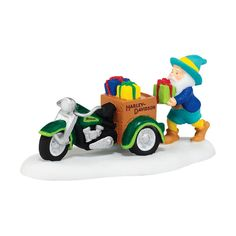 Dept 56 North Pole Village 4042403 Trike Load Of Christmas -- See this great image  : Decor Collectible Buildings and Accessories