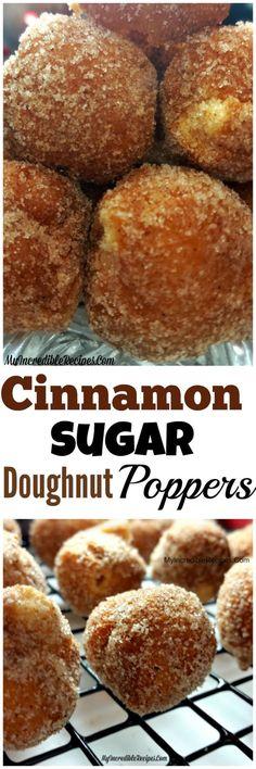 Cinnamon Sugar Doughnut Holes BITE SIZE