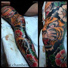 dave angle ig pic by Myke Chambers Tattoos, i fucking love this! Leg Sleeve Tattoo, Leg Tattoo Men, Leg Tattoos, Body Art Tattoos, Maori Tattoos, Japanese Leg Tattoo, Japanese Sleeve Tattoos, Trendy Tattoos, Tattoos For Guys
